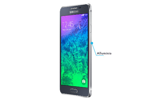 Samsung Galaxy Alpha laterale sinistro